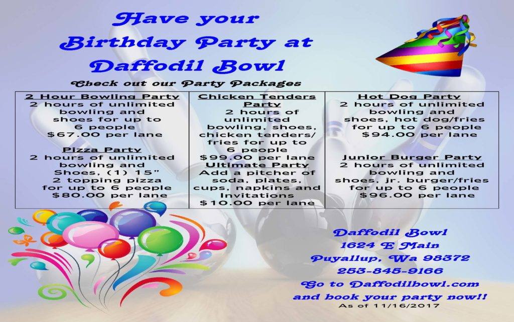 Birthday Party Ideas Kids Parties Packages Daffodil Bowl