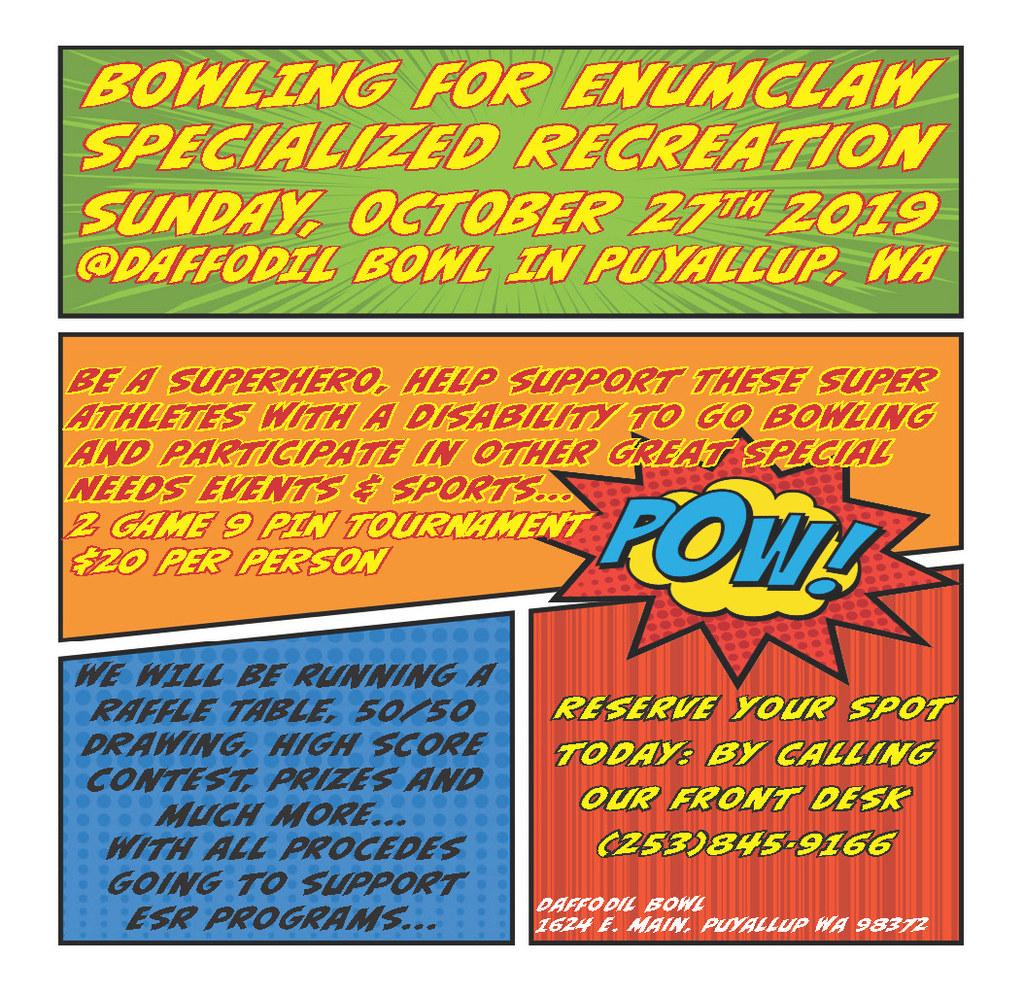 Enumclaw Specialized Recreation Fundraiser Daffodil Bowl Puyallup Wa