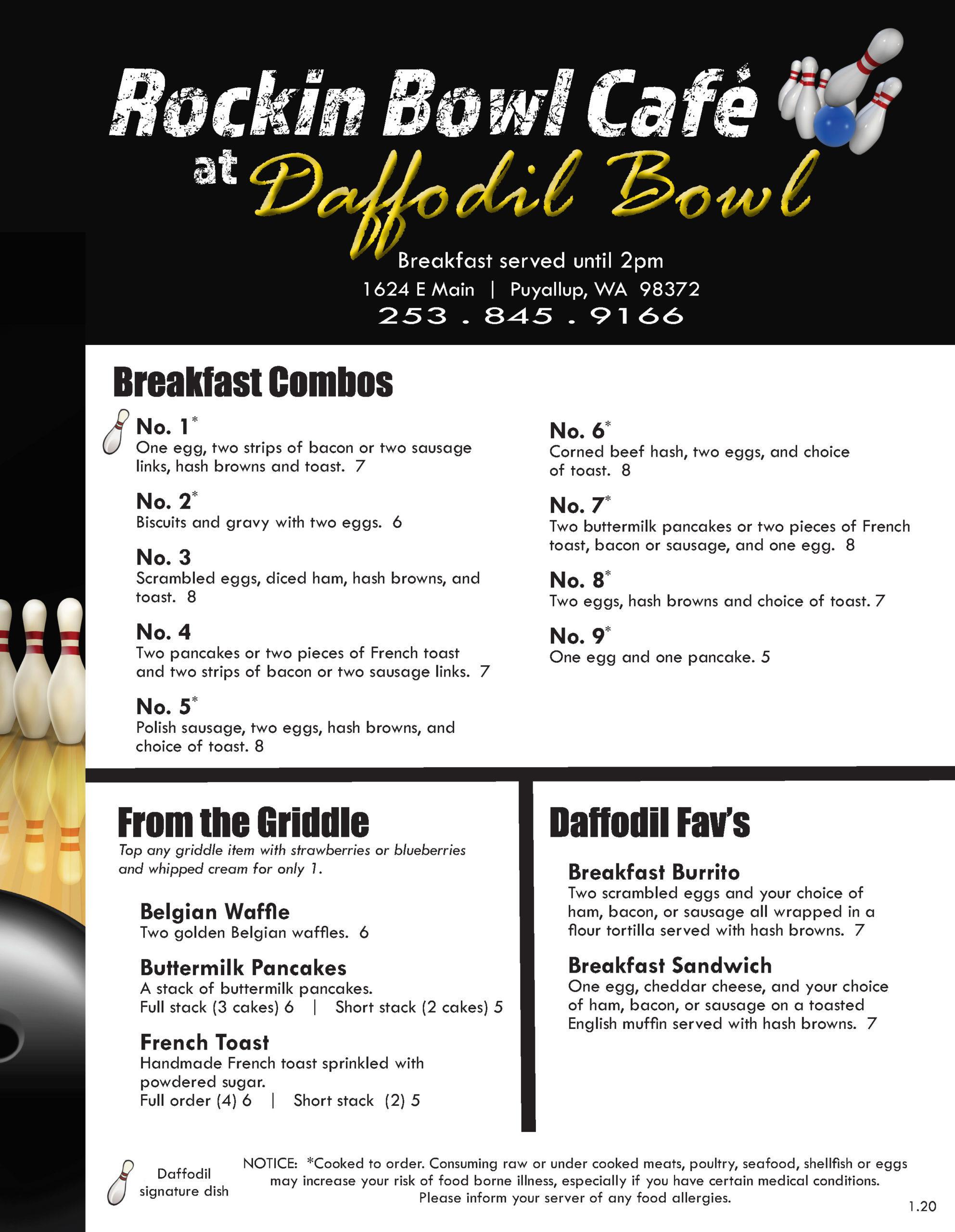 Food And Beverage Daffodil Bowl Puyallup Wa